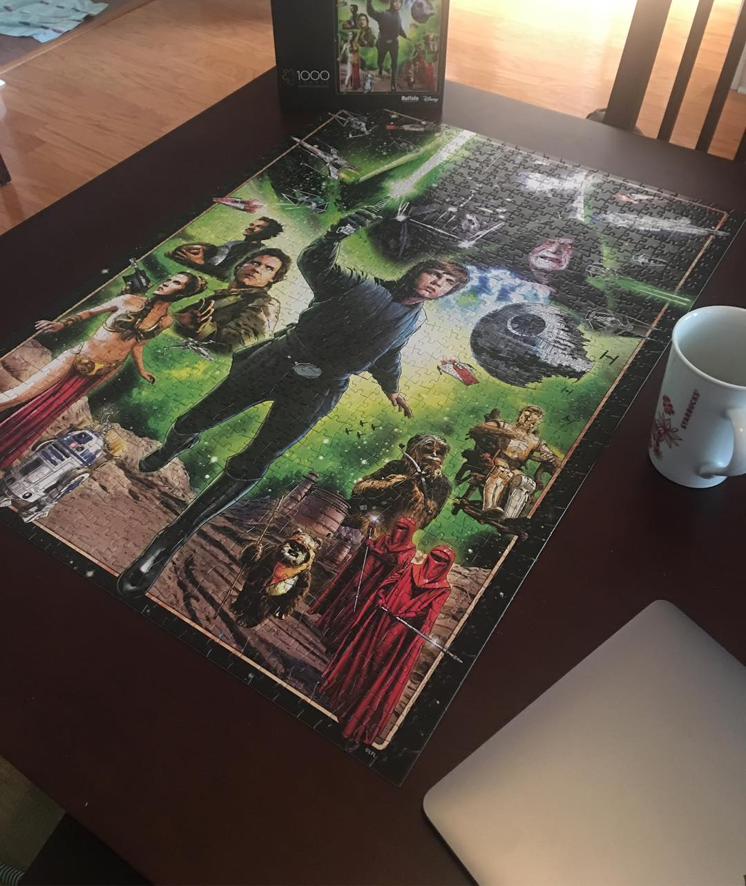 completed star wars puzzle