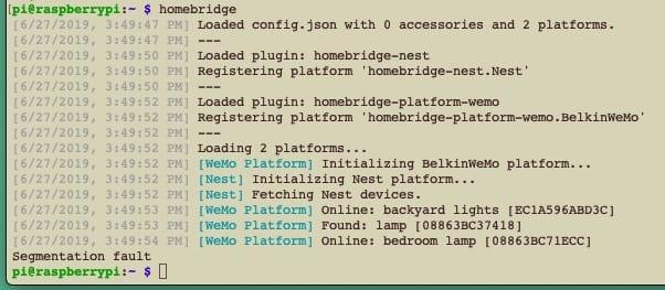 screenshot of computer code displaying a segmentation fault
