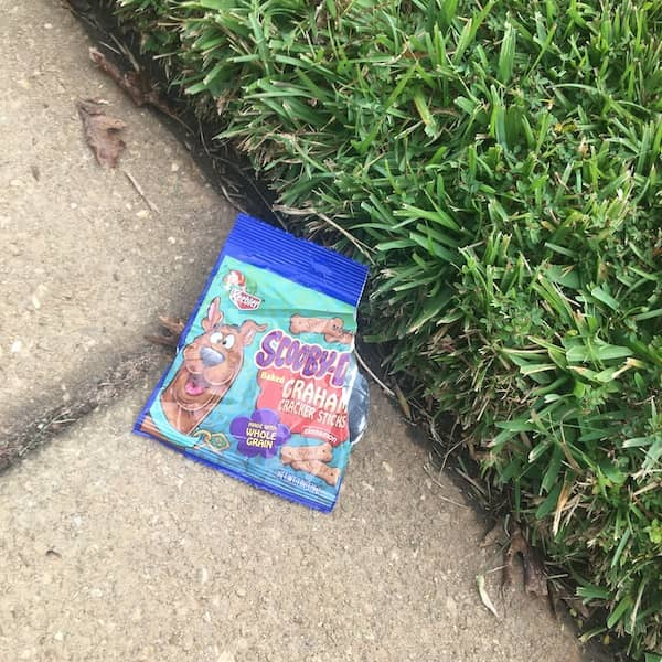 snack pack on ground