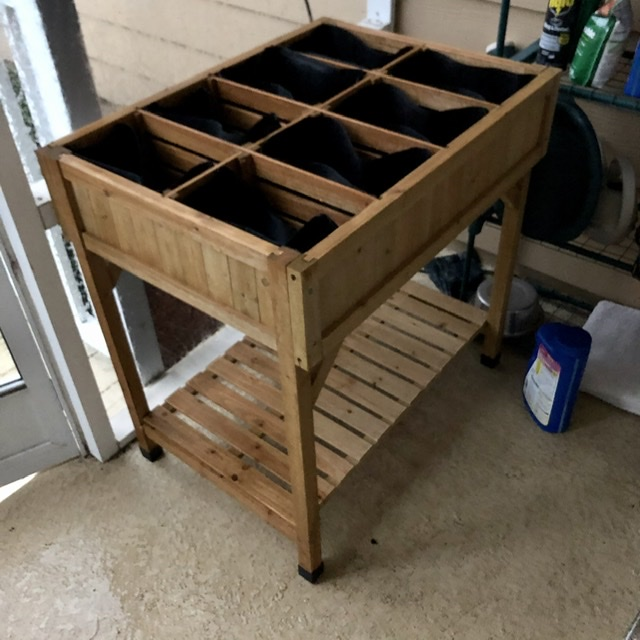 a raised garden planter thingie