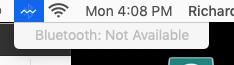 "screenshot of ""bluetooth unavailable"""