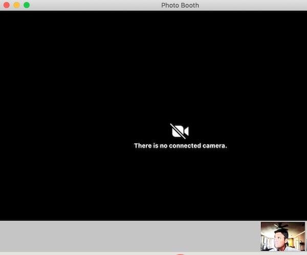"screenshot of ""no camera attached"" error"