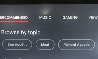 YouTube recommends Meat and Richard Ayoade