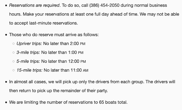 COVID-19 canoeing rules