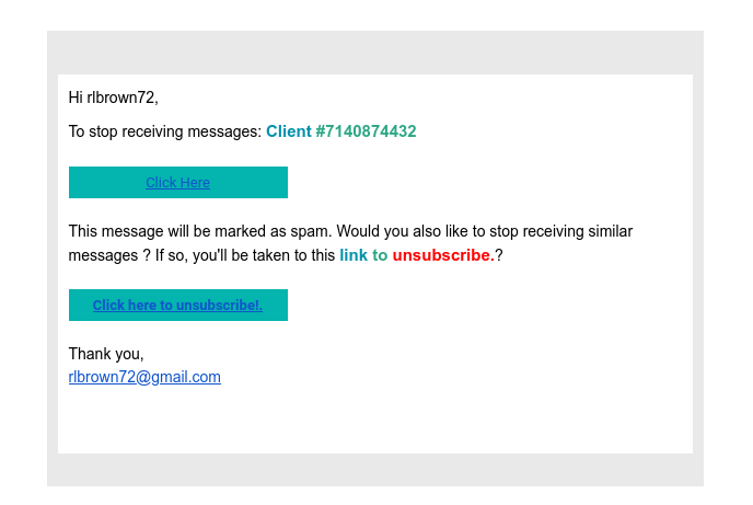 spam allegedly from me, to me