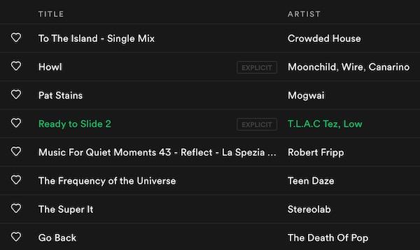 screenshot of playlist