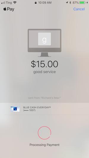 a screenshot of Apple Pay