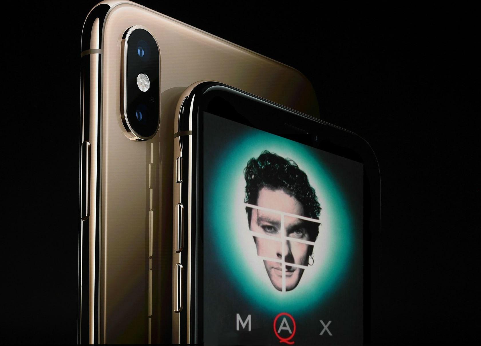 iphone xs max with max q album cover